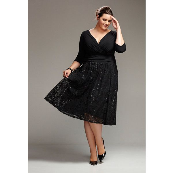 Avenue Plus Size Lace Skirt Wrap Dress ($100) ❤ liked on Polyvore ...