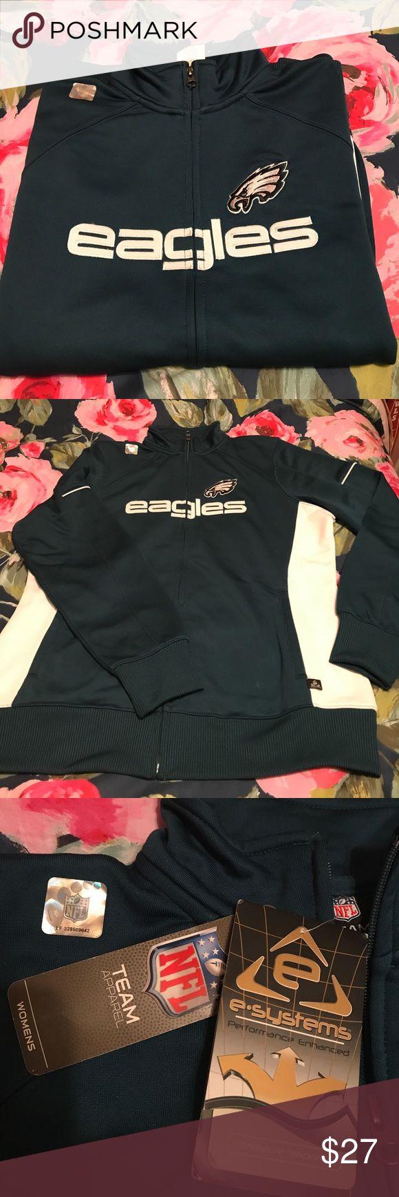 Philadelphia Eagles Zip Up NFL Team Apparel Eagles moisture wicking zip up. Tops Sweatshirts & Hoodies