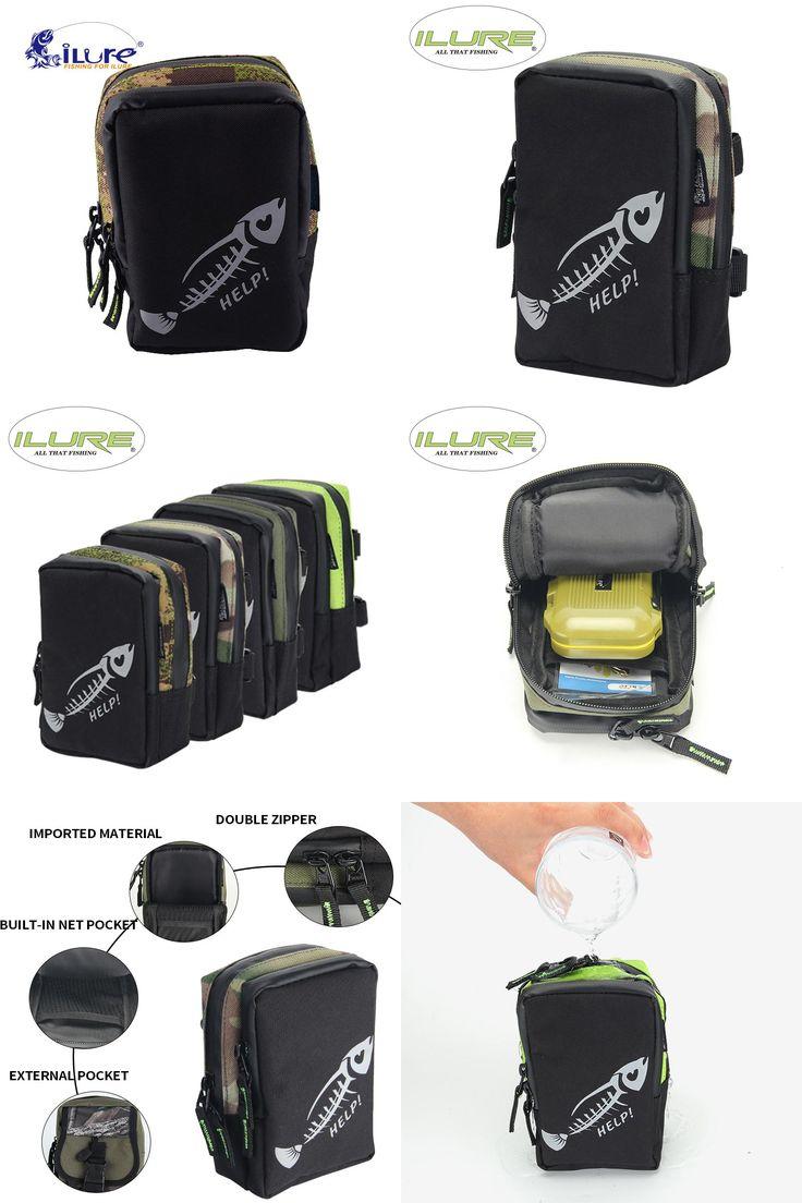 [Visit to Buy] iLure waterproof multifunctional 17.4*13.5*7 cm canvas bag carp fishing equipment roll lure bag bagpack camouflage tool Pesca #Advertisement