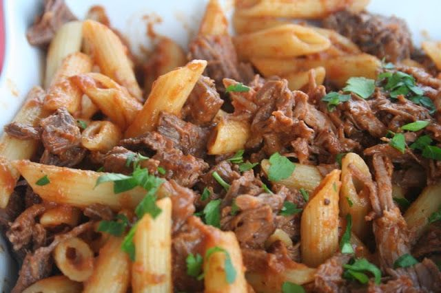 IM GOING TO EAT THIS AND NOT SHARE. AH. Penne With Braised Short Ribs - recipe by Giada De Laurentiis