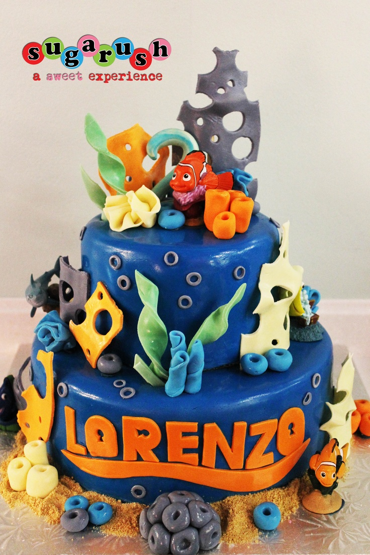 Finding Nemo Cake, Nemo Cake, Sea-themed cake. Sugarush ...
