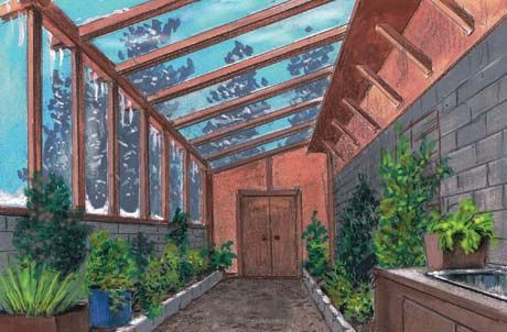 Tips for constructing a greenhouse that is attached to your house:)