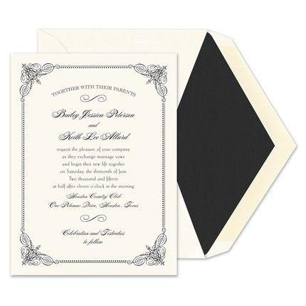 Vintage Frame Invitations - William Arthur (