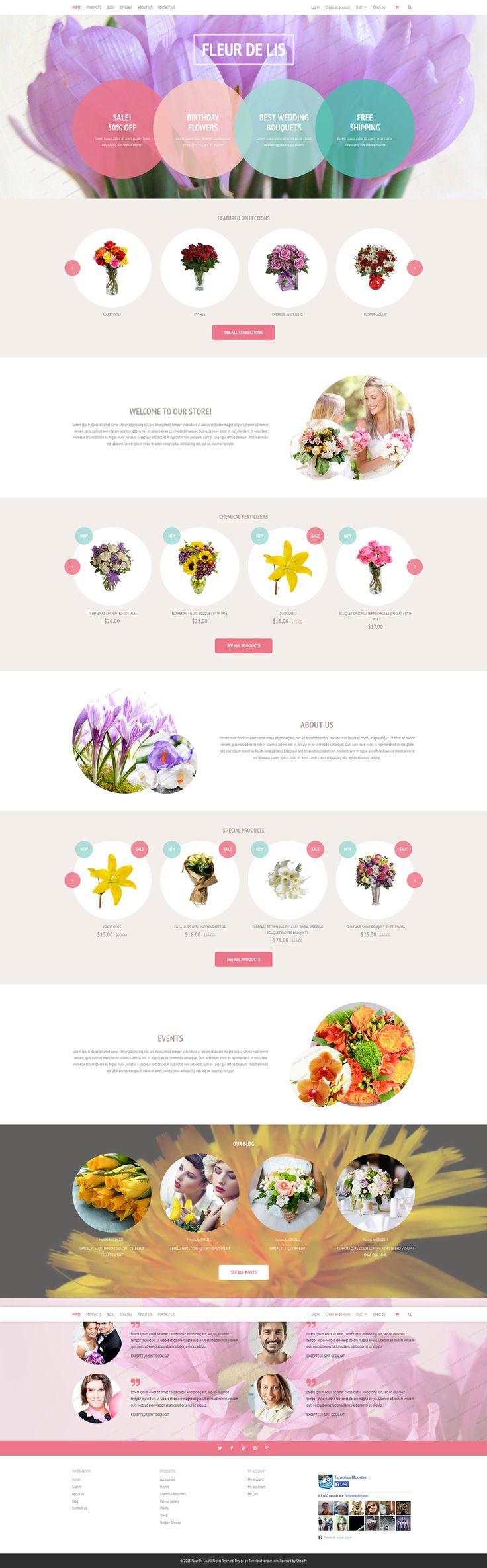 Flower Store Shopify Theme #wedding #gifts http://www.templatemonster.com/free-shopify-theme-flower-shop.html?utm_source=pinterest&utm_medium=timeline&utm_campaign=freefleur