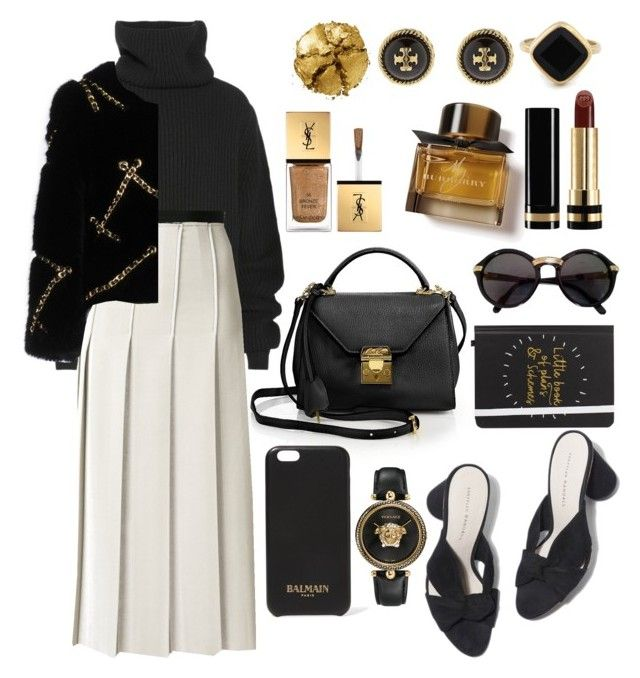 """Opera"" by elshakalaka on Polyvore featuring Mark Cross, Haider Ackermann, Loeffler Randall, Aviù, Tory Burch, Sole Society, Moschino, Pat McGrath, Burberry and Yves Saint Laurent"