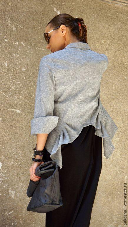 Купить Летний Пиджак Grey - серый, летний пиджак, пиджак, пиджак женский, серый пиджак