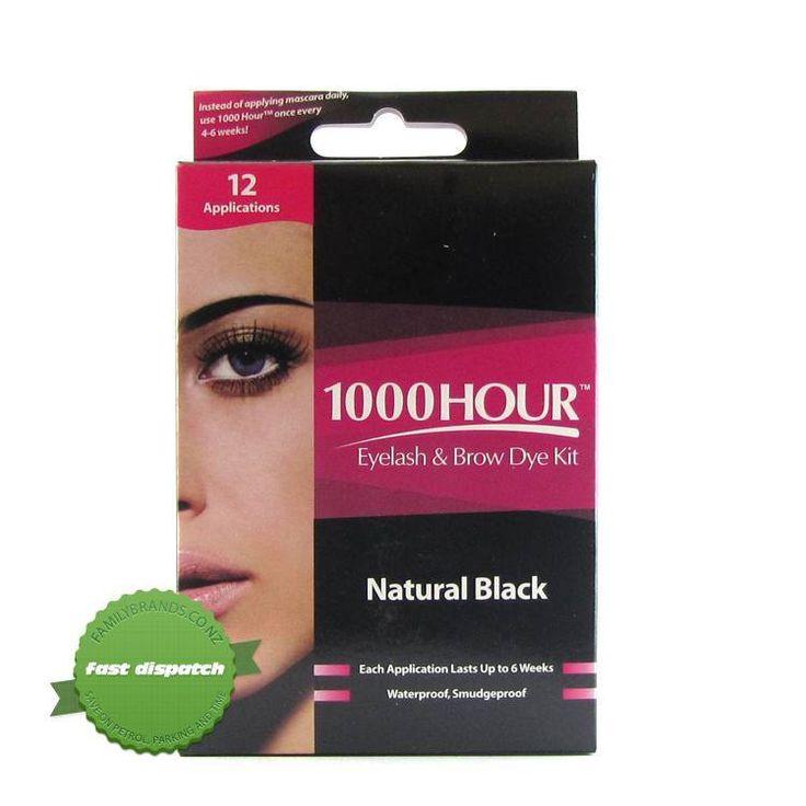 This eyelash tinting kit gives you everything you need to tint your eyelashes at home. #naturalblack #browtint #eyebrowtint #brows #eyebrows #1000hour #nz #newzealand #blackbrows #darkeyebrows