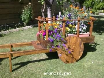 1000 images about carretas antiguas on pinterest for Carreta de madera para jardin
