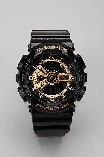 G-Shock Black And Gold GA110 Watch