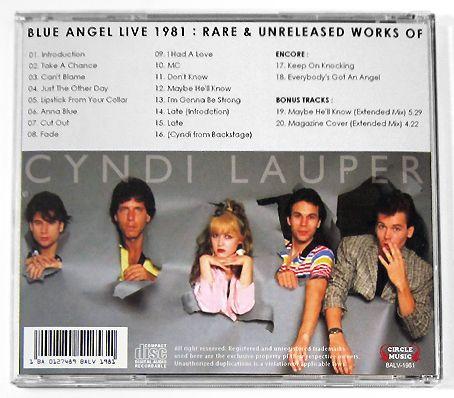 シンディ・ローパー/BLUE ANGEL CYNDI LAUPER 1981 LIVE_画像2