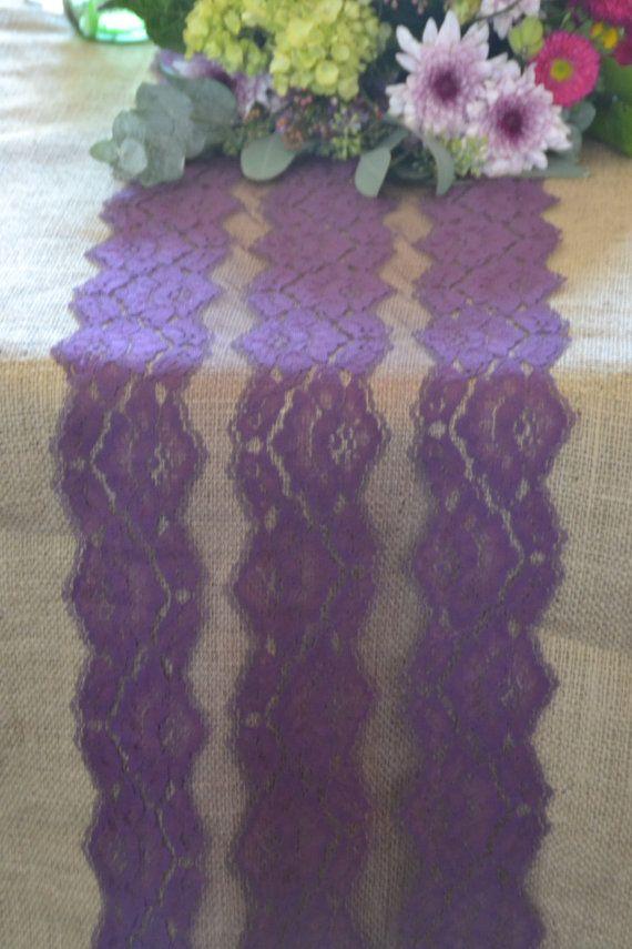 Purple Lace 11 wide choose your length 3FT 16 FT / by LolaAndBea