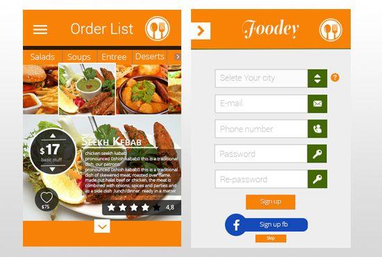 android Restaurant Apps Ul Design on Behance