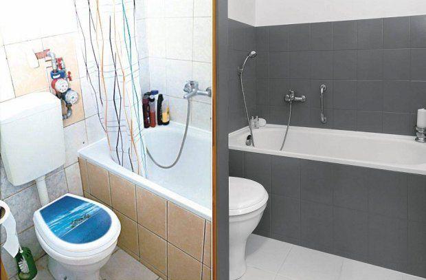 Całkowita metamorfoza łazienki za 500 zł