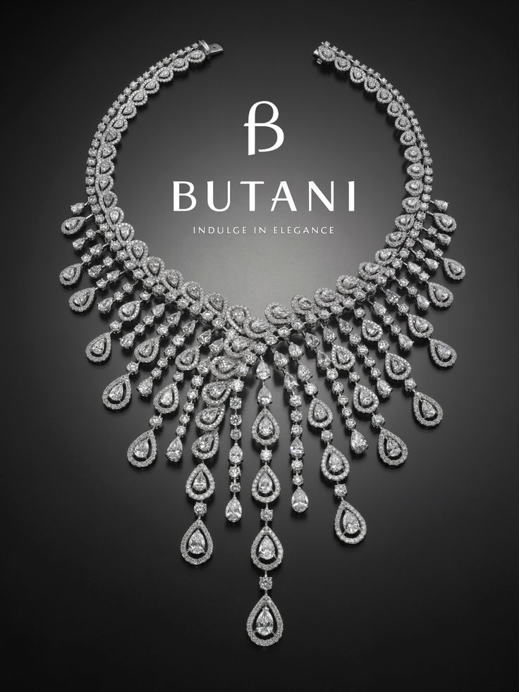 An exceptional diamond necklace fit for Royalty #Butani #ButaniJewellery #Diamond