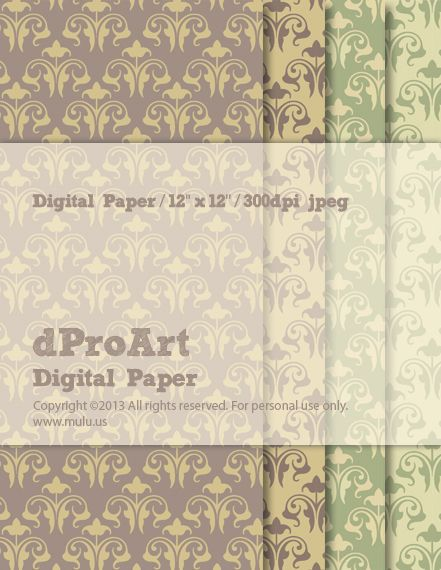 Baroque 05 Digital Paper by dProArt at mulu.us