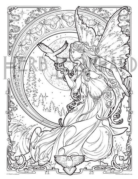 Herb Leonhard Adult Coloring Page Faerie Nouveau Coloring Book