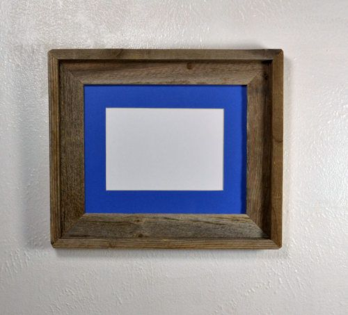 Reduce,reuse and recycle with this brown and gray reclaimed wood frame.