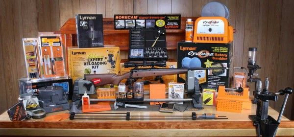 """Lyman - Reloading Prize Package Sweepstakes  Sweepstakes Prize  Enter to Win  The Grand Prize includes a Savage Axis II XP Hardwood Stock Rifle a Borecam Borescope a Cyclone Rotary Tumbler a T-Mag Expert Reloading Kit and everything you need for reloading and firearms maintenance like a Case Prep Xpress a GEN 6 Compact Digital Powder System a Revolution Gun Vise a Universal Cleaning Rod Set a Master Gunsmith Ultimate Gunsmith Tool Set an """"E-ZEE Prime"""" Hand Priming Tool and much more…"""