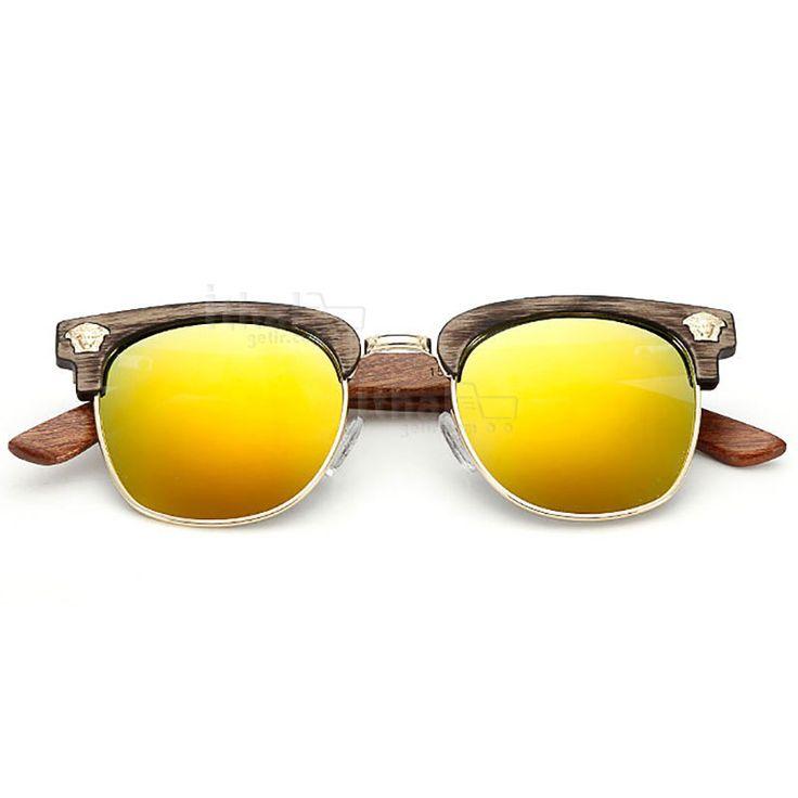 UV400 Korumalı, Gerçek Ahşap Güneş Gözlükleri - IGD090613435 - Vintage Güneş Gözlükleri, Ayna Camlı Güneş Gözlükleri, Bambu Güneş Gözlükleri