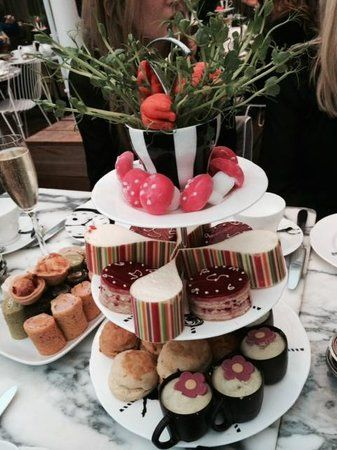 When in London, try the Mad Hatters Tea at the Sanderson Hotel.