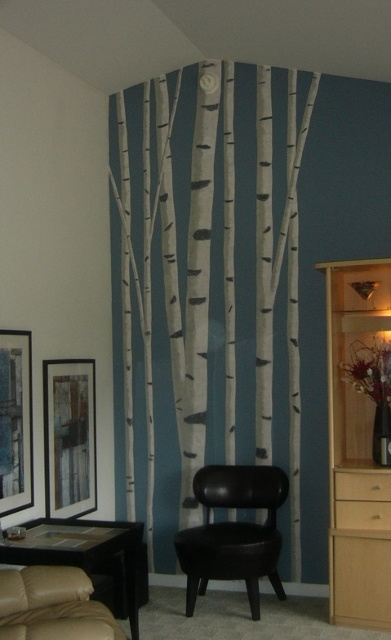 Best 25 sponge paint walls ideas on pinterest textured for Diy birch tree wall mural