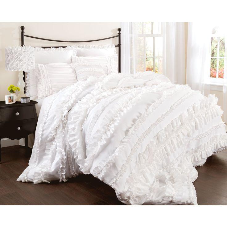 amazoncom lush decor belle 4piece comforter set king white