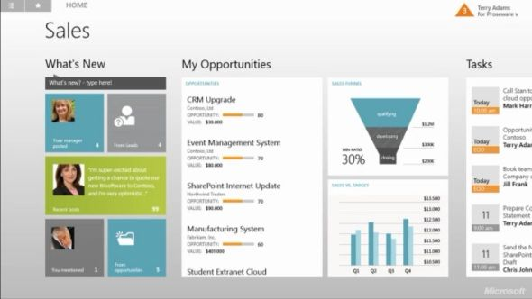 Metro CRM app for Microsoft Dynamics CRM, preview version to be released in Winter 2013 update