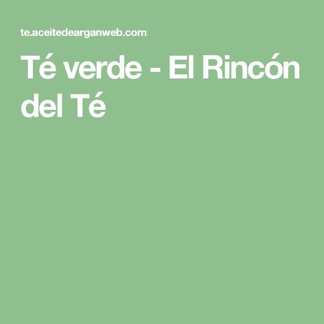 Té verde - El Rincón del Té