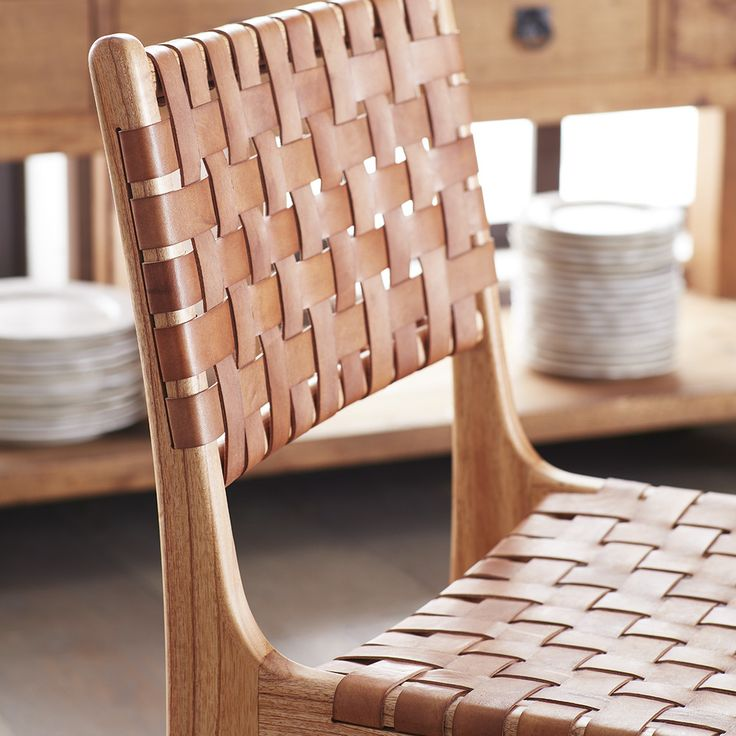 Woven dining room chairs