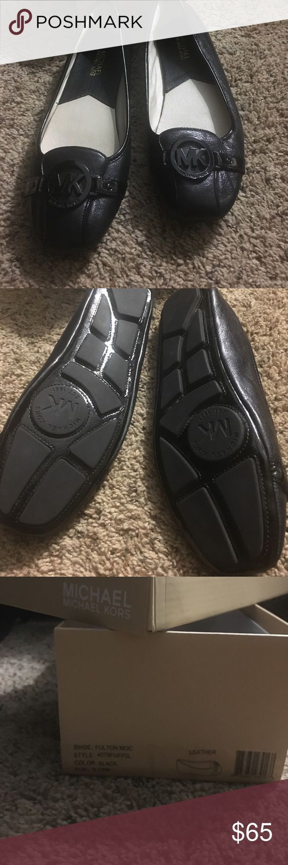 Michael Kors Fulton Flats 9.5M Brand New never worn MK black Fulton flats MICHAEL Michael Kors Shoes Flats & Loafers