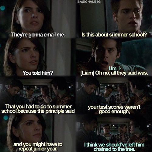 Teen Wolf season 5 - Stiles, Liam, and Malia