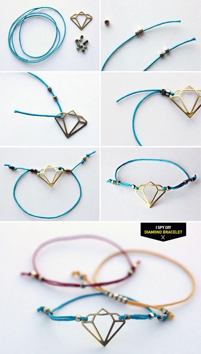 "MY DIY | ""Diamond"" Bracelet | I SPY DIY"