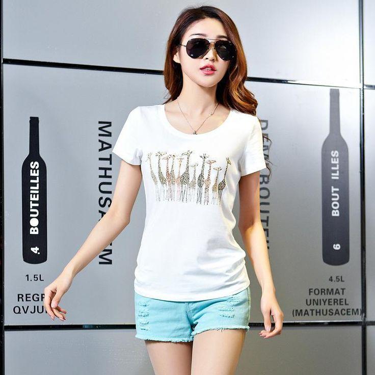 Sexy 2017 Spring Summer Vetement Femme Tshirt ClothesShort Sleeve Animal Print T-Shirt Womens Tops Clothes T Shirts Plus Size