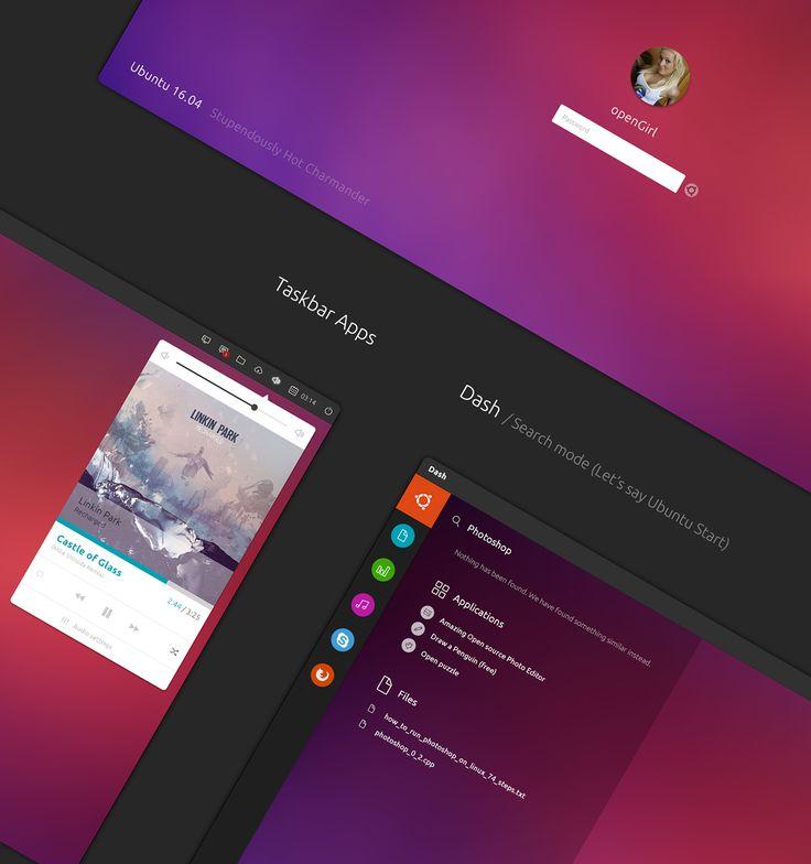 Ubuntu 16.04 Stupendously Hot Charmander concept on Behance