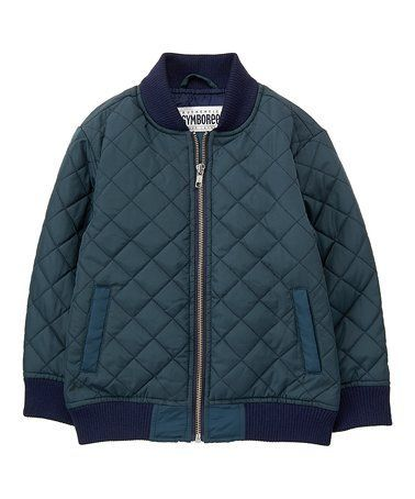 Loving this Blue Quilted Bomber Jacket - Toddler & Boys on #zulily! #zulilyfinds