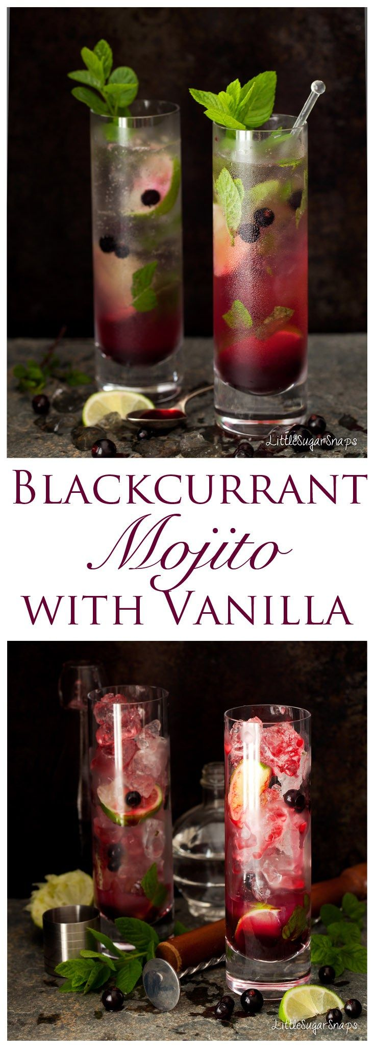Blackcurrant Mojito:If you need a new twist on your usual cocktail repertoire try a Blackcurrant Mojito. It's fun. It's fruity. It's a classic Mojito but with attitude... and a hint of vanilla