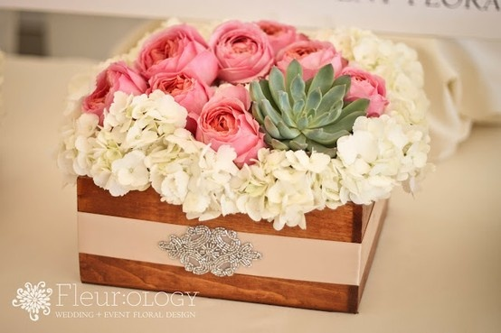 Rustic Bling Centerpiece