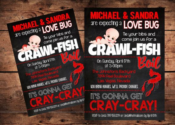 Crawfish Diaper Party Baby Shower Invitation  by ReigningParties