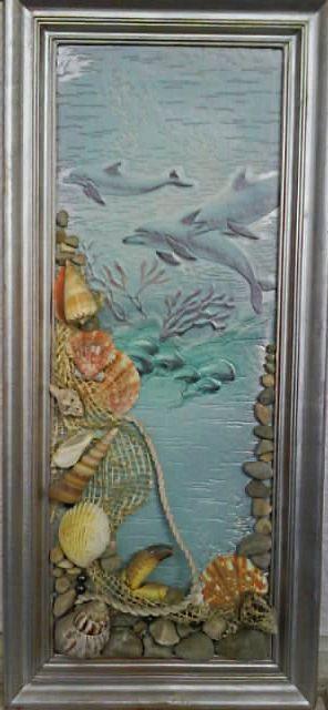Картины из ракушек и морских камней