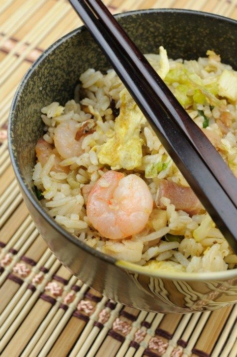 Rice‑Chinese style with seafood