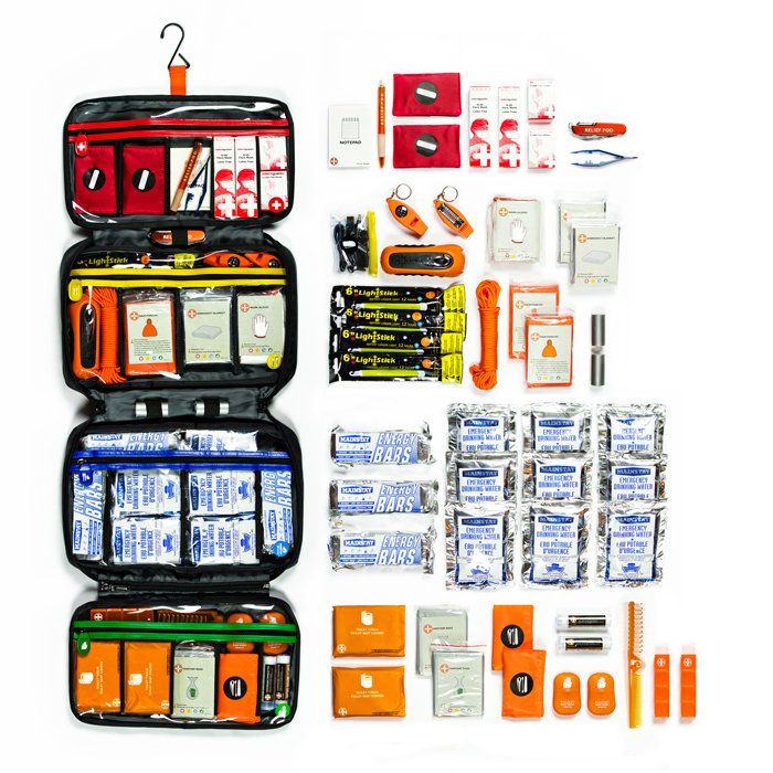 Essential supplies for safety and self-sufficiency during the first 72 hours of an emergency or disaster.