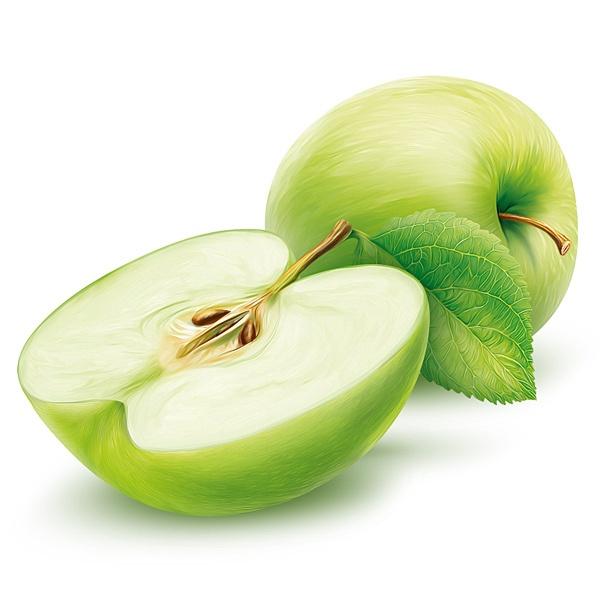 Green Apple by Roman Belichenko, via Behance