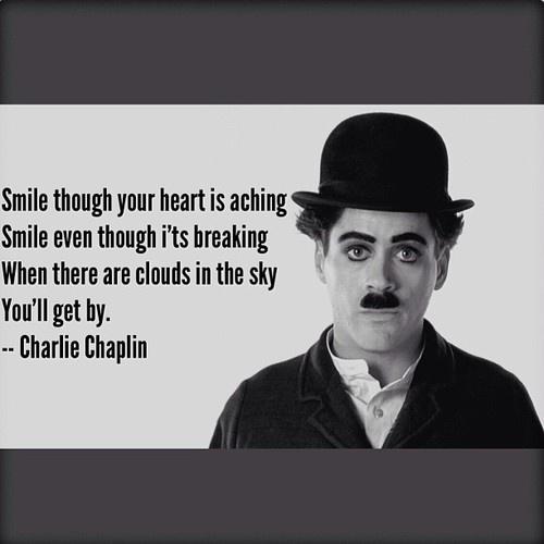 Smile Quote Charlie Chaplin | Robert Downey JR. as Charlie Chaplin ♥
