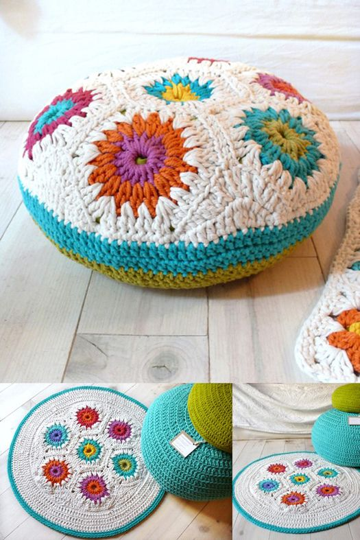 No free pattern but I so love the aesthetics of the design, composition and combination of colors. Such a calming, yet vibrant, display of inspiration! This to me is art.