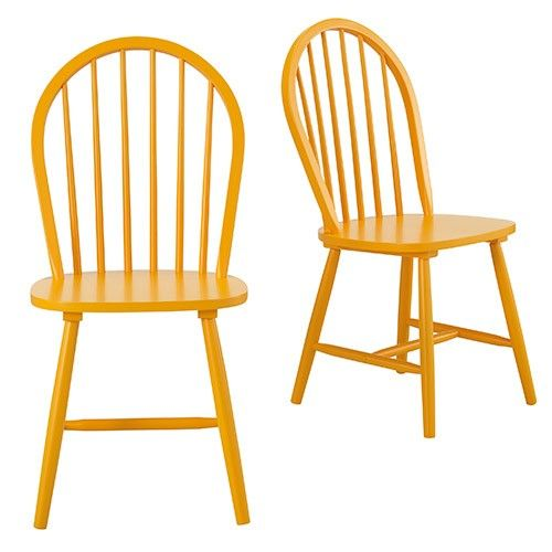 Set of 2 - Cordelle Dining Chair - Mustard Yellow