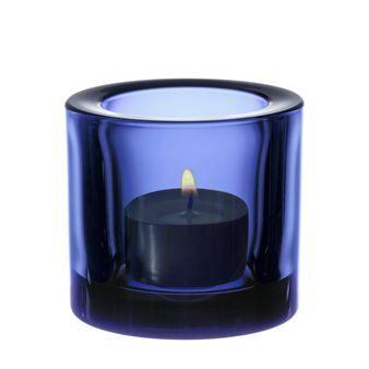 Kivi ljuslykta - ultramarin (blå) - Iittala