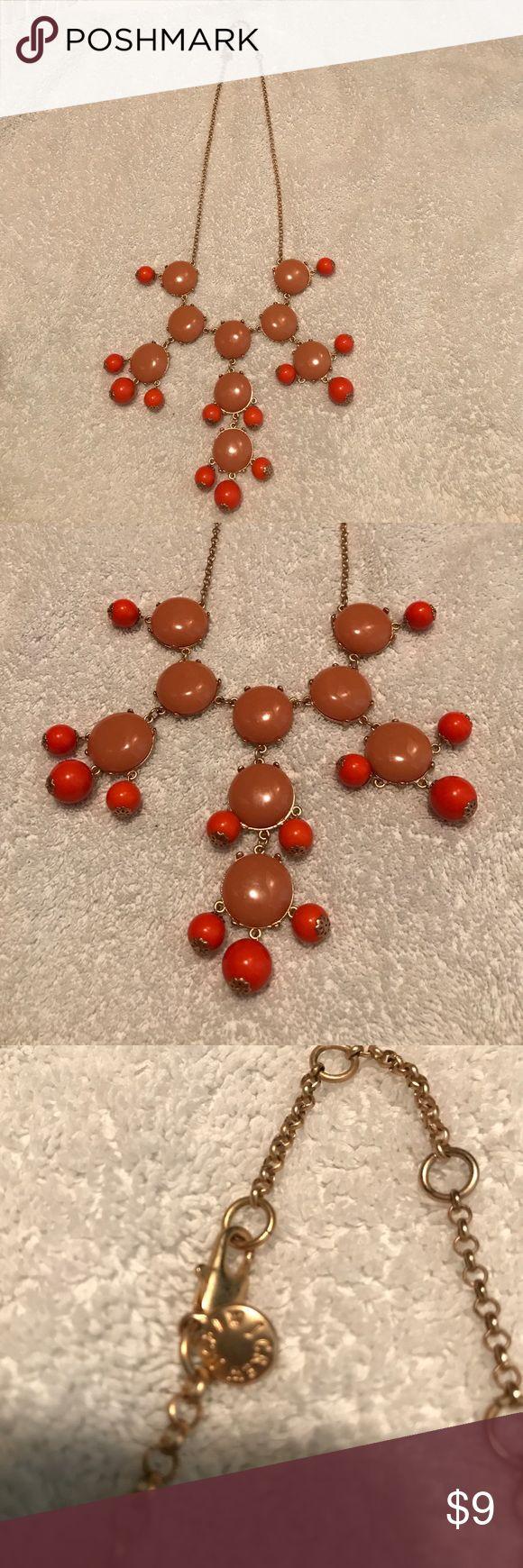 J crew necklace orange Good used condition J crew Jewelry Necklaces