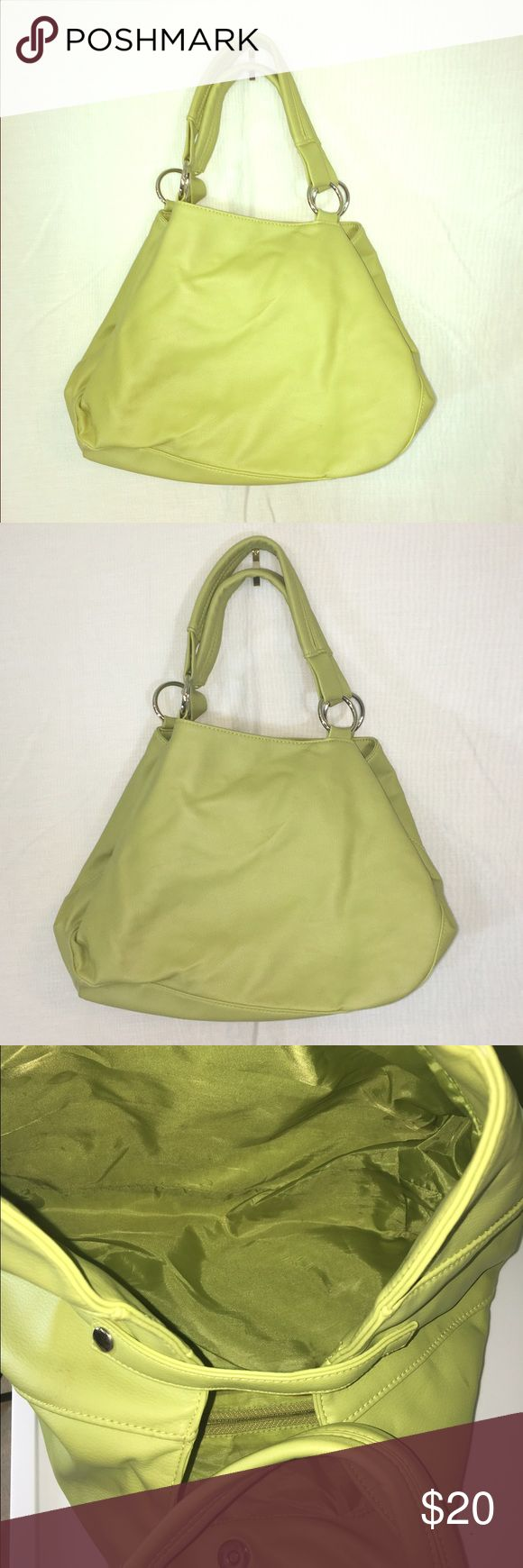 Large Lime Green Hobo Bag A beautifully kept bag in a unique shape and color. Would be a convenient and fashionable piece to add to any outfit! Bags Hobos