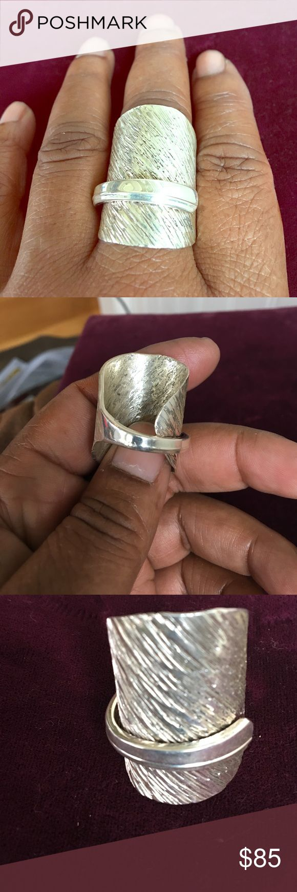 Sterling silver spoon ring Sterling silver spoon ring.. I had  several rings made out of some sterling silver flatware that I had .. Jewelry Rings
