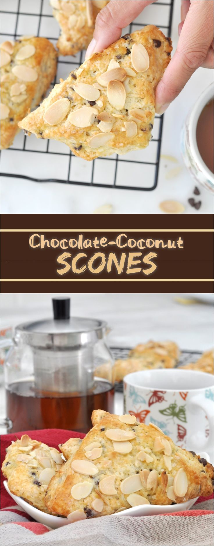 Stay warm and snuggle up to these flavorful scones next to a steamy hot cup of tea ☕️
